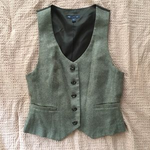 Tweed Vest- The Gap Size Small